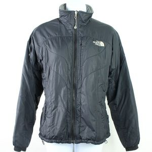 The North Face black quilted insulated coat jacket